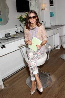 Olivia Palermo at Dry Bar for Piperlime: Dry Bar