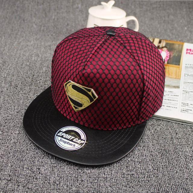 eea8e63b7ce7e 2016 New Fashion Summer Brand Superman Baseball Cap Hat For Men WomenTeens  Casual Bone Hip Hop Snapback Caps Sun Hats