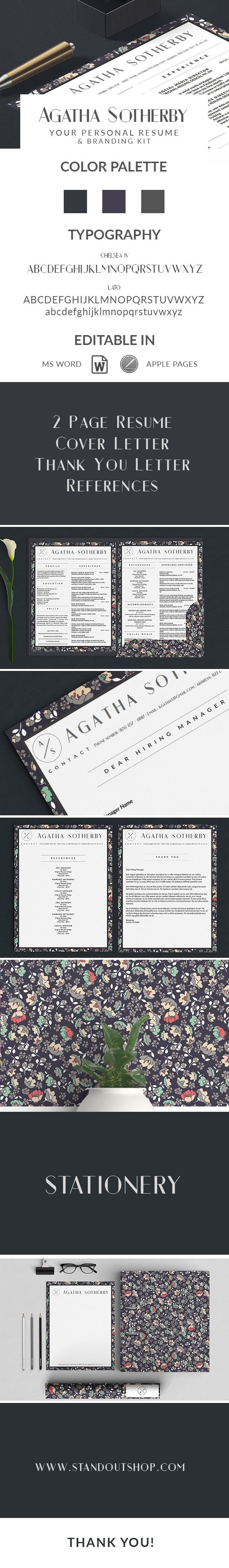 Best Agatha Sotherby Resume Template Images By Stand Out Shop On