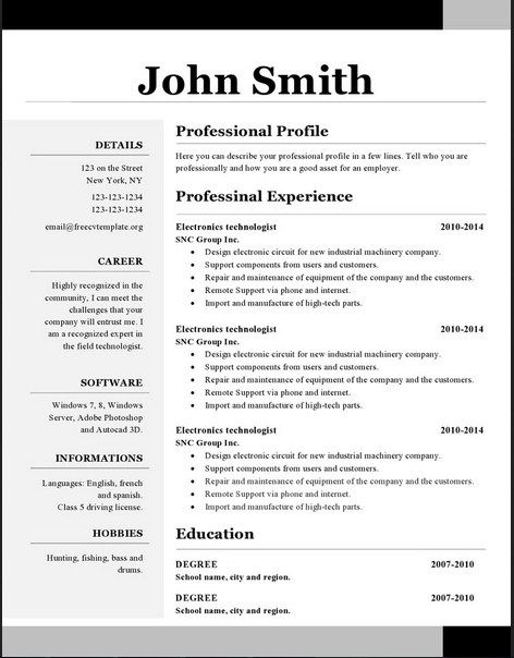 517 best Latest Resume images on Pinterest Perspective, Cleaning - open office resume templates free download