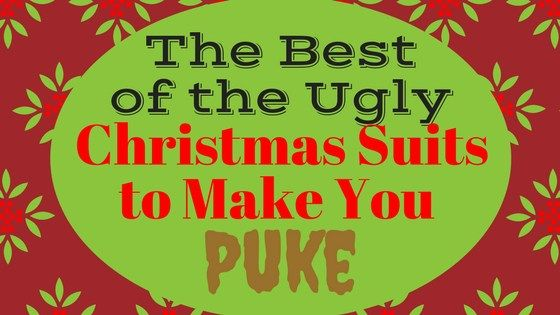 Ugly Christmas Suits to Make You Puke - We are bringing you the finest list of Ugly Christmas Suits on the web! As if Ugly Christmas Sweaters weren't bad enough, the latest holiday trend taking the fashion world by storm is Ugly Christmas Suits. Would you wear any of these? #uglychristmas #christmasparty #uglysweater