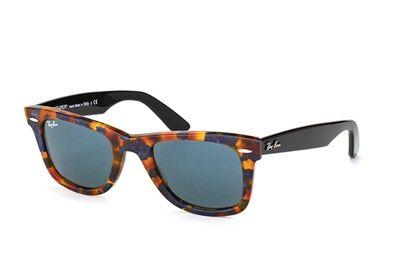 Ray Ban Wayfarer Sunglasses RB 2140 1158R5 Spotted Blue Havana