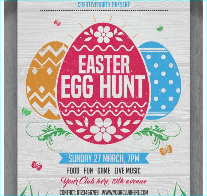 easter egg hunt flyer template word