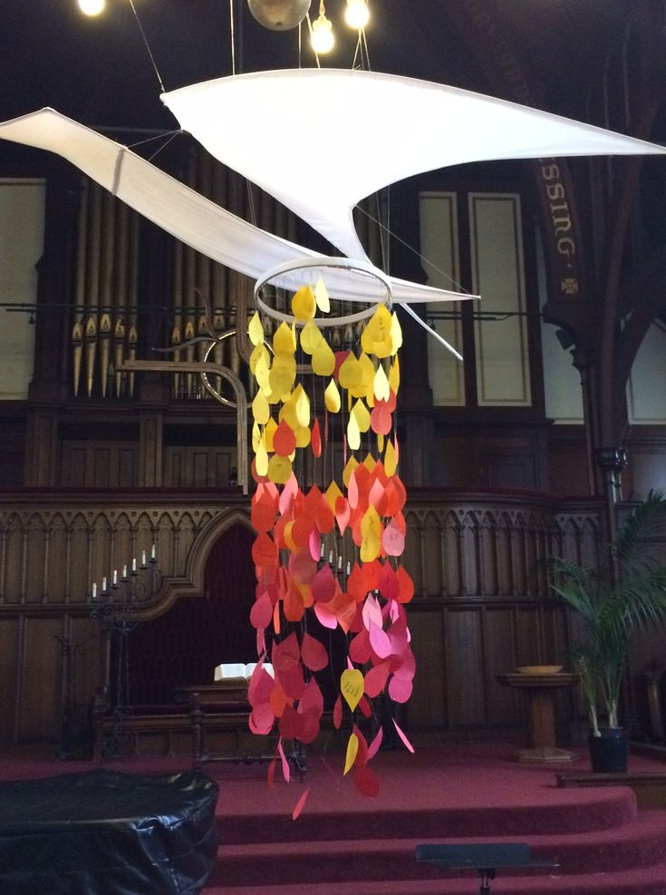 Interactive prayer stations for Pentecost