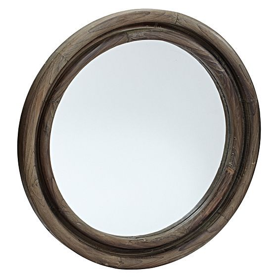 Emphasise the rich quality of colonial-finished timber with the Wood Perimeter Mirror from LS Collections in your home.