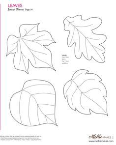 Mollie makes, Felt Leaf Template--cut out of craft foam to make stamp or embossing plate...yeah!