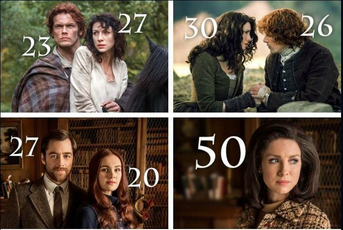 Ages on Outlander TV Series