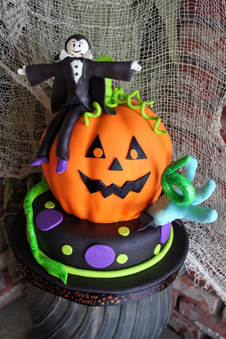 42 best fun jack o u0027lantern cakes images on pinterest halloween
