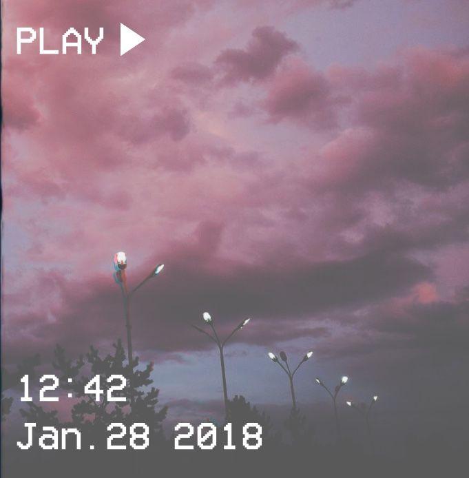 M O O N V E I N S 1 0 1 #vhs #aesthetic #pink #purple #lights #sky #clouds