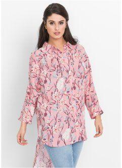 Блузка с вырезами в стиле оверсайз, BODYFLIRT, пепельно-розовый в цветочек