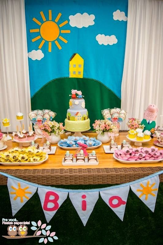 Little Wish Parties | Peppa Pig Third Birthday Party | https://littlewishparties.com