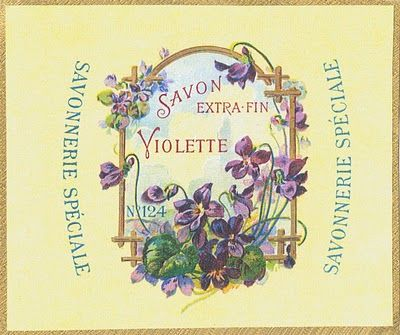 Savon Extra Fin Violette ~ french label