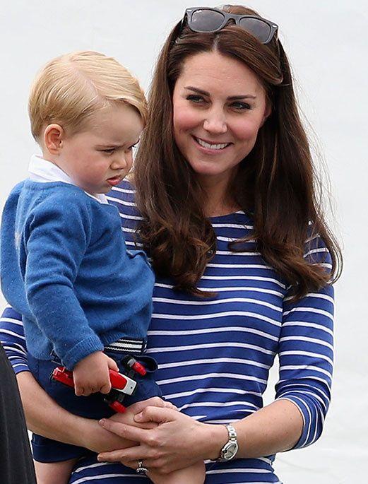 キャサリン妃、ジョージ王子と一緒にポロの応援に!