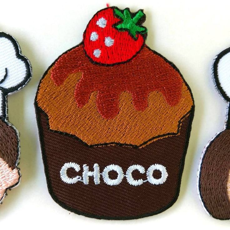Chocolate Cup Cake Muffin Iron on Patch Embroidered DIY Applique New Cloth Badge