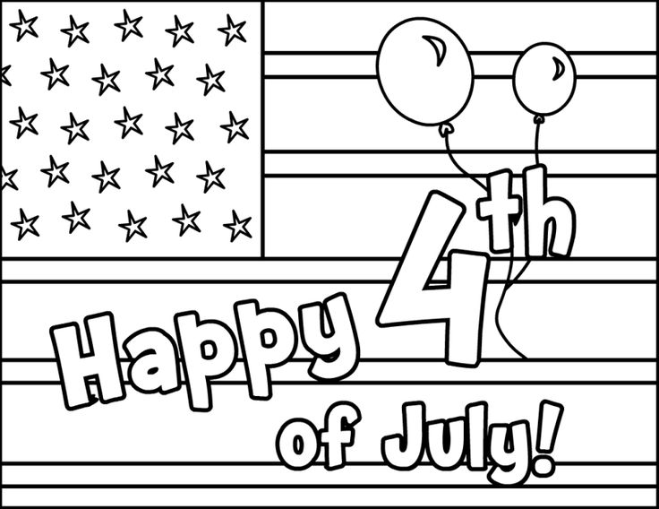 Of July Greeting Cards Coloring Pages For Kids Printable