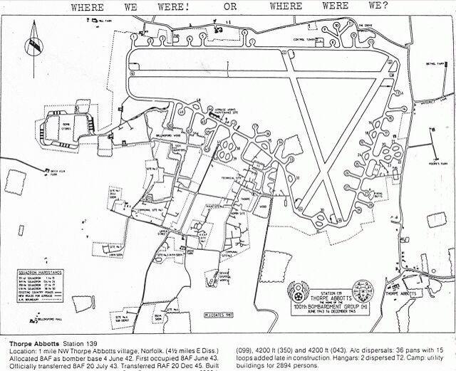 Map of Thorpe Abbotts