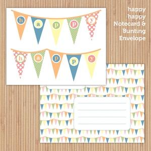 Bunting notecard (printable)