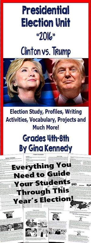2016 Presidential Election Unit Everything you need to teach this year's…