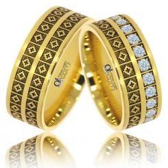 Verighete Lux Romanita aur galben