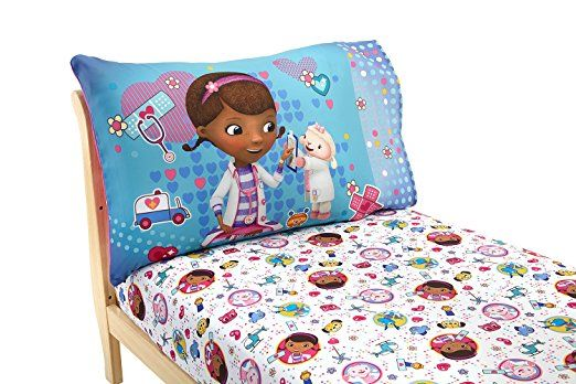 Disney Doc Mcstuffins 2 Pack Fitted Sheet And Pillowcase