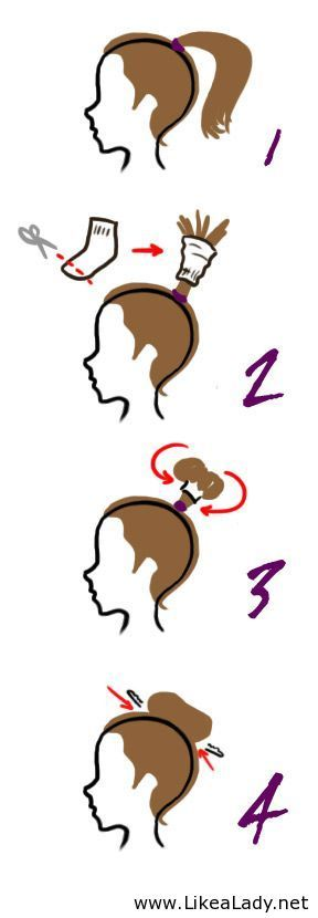 Simple sock bun tutorial