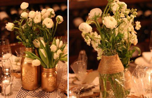 Love the gold vintage jars