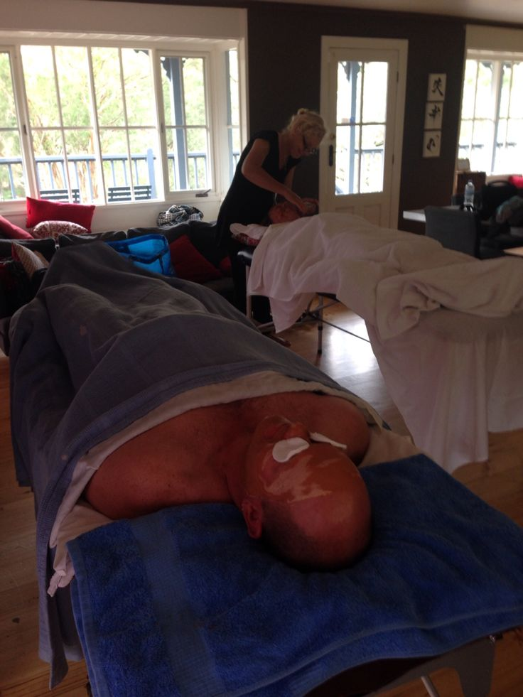 Even 'Tradey' husbands enjoy relaxing with a massage and facial at Finley in Hepburn Springs.