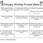 This January writing prompt menu provides support in choosing writing topics. This is used in a first grade classroom, but can be used in first thr...