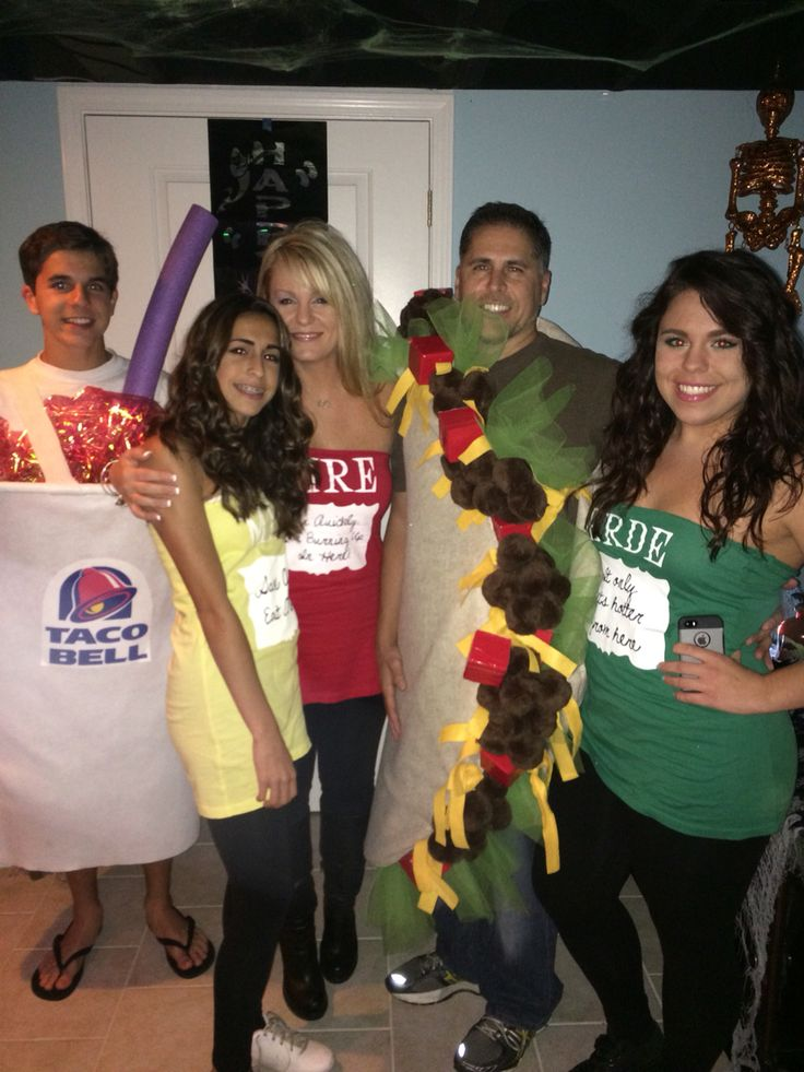 #Taco Bell meal deal costumes. Halloween 2015 #taco costume #sauce packets