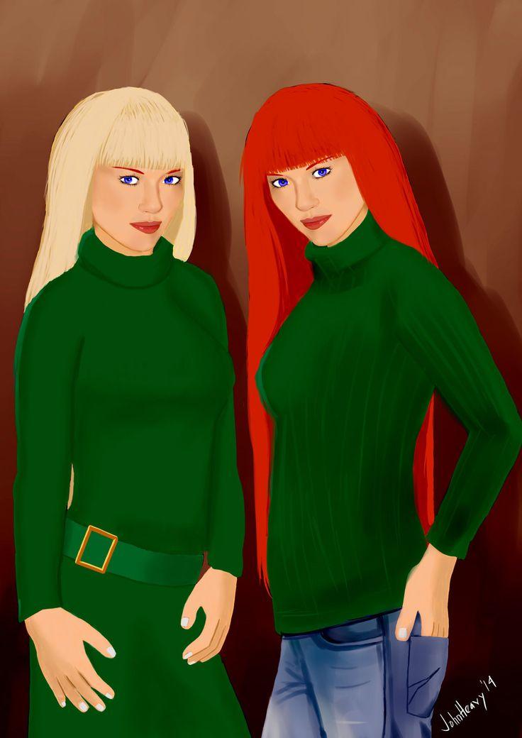 Jessie and Julie (OC) by JohnHeavy.deviantart.com on @deviantART
