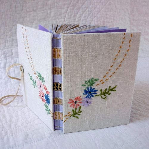 Vintage Embroidered hand-bound journal(by Kate Bowles)