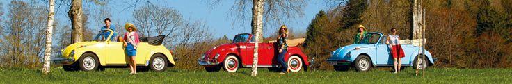 VW Käfer 1200 & 1303 Cabriolet | Nostalgic Oldtimerreisen