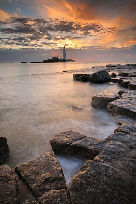 St Mary's Lighthouse, Whitley Bay, Tyne and Wear, England.....this was a fun school trip!