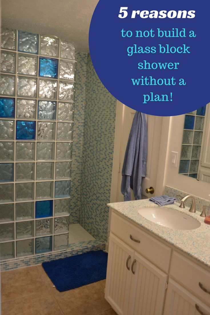Clear glass blocks for crafts - 5 Reasons You Don T Want To Build A Glass Block Shower Without A Plan