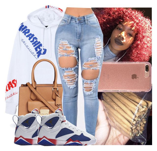 """""""9:25pm"""" by kodakdej ❤ liked on Polyvore featuring HUF, Michael Kors, Speck and NIKE"""