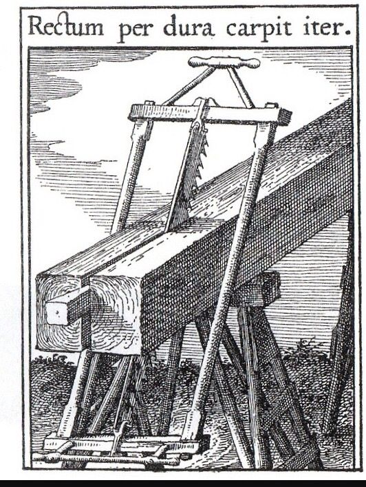 Early frame pitsaw print