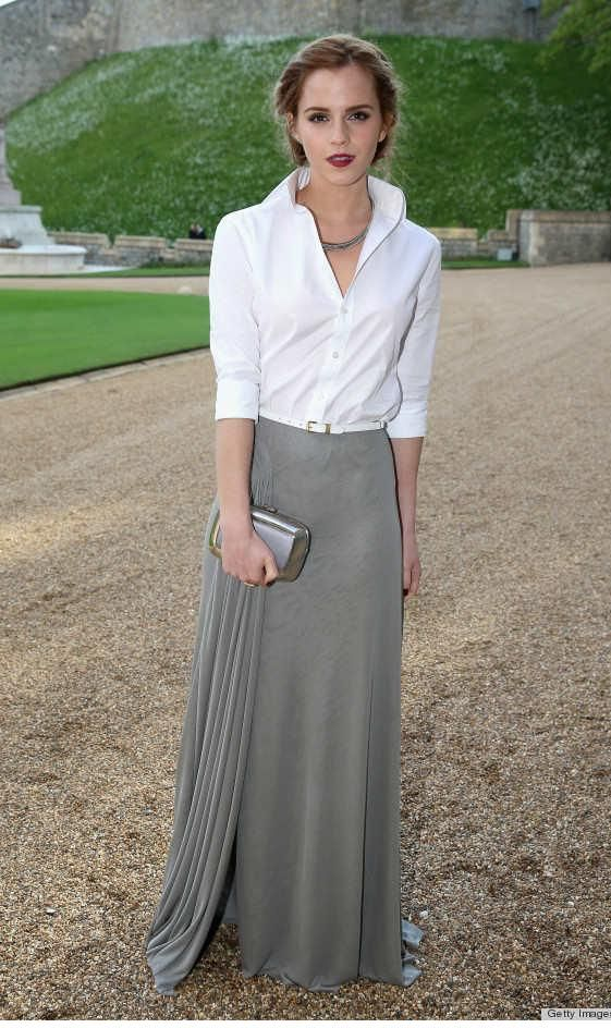 Stunned at how simple and elegant this look is! I am a fan of Emma Watson's fashion style