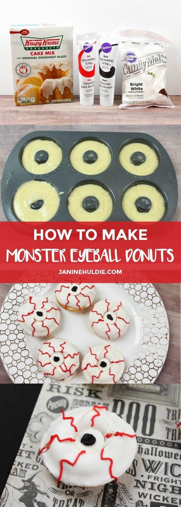 How to Make Monster Eyeball Cupcakes