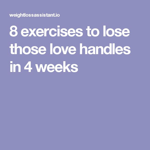 how to get rid of love handles in two weeks