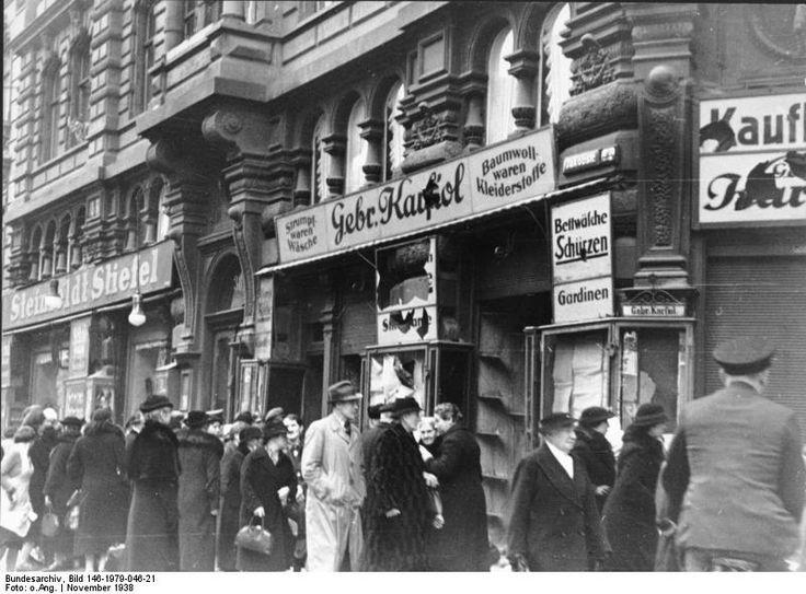 [Photo] Destroyed Jewish shop in Magdeburg, Germany, 9 Nov ...