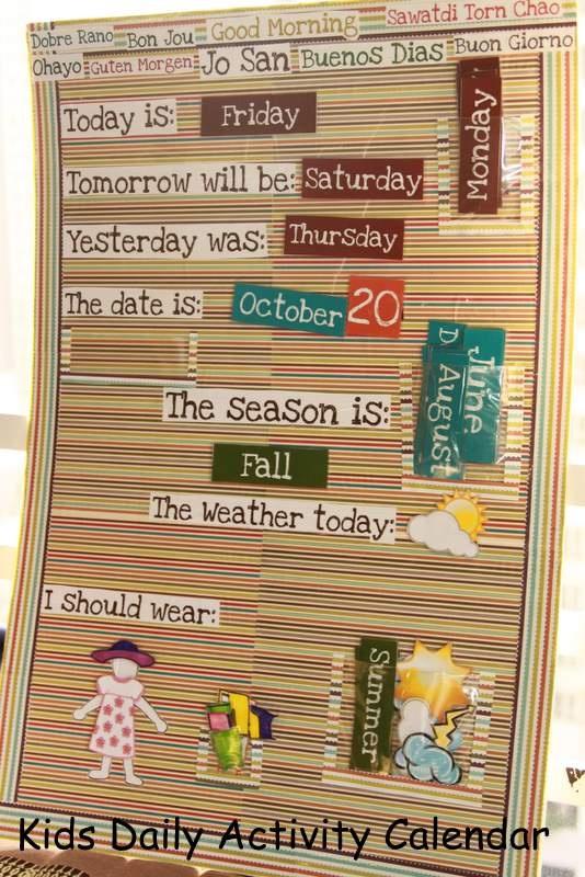 Kids Weather Calendar : Best ideas about kids calendar on pinterest