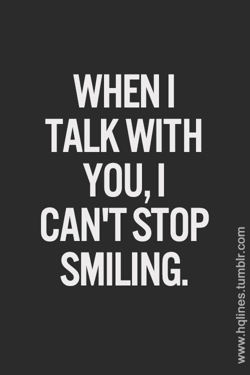 Vos me haces sonreír