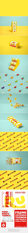 Fruna candy packaging design by Brandlab - http://www.packagingoftheworld.com/2016/12/fruna.html