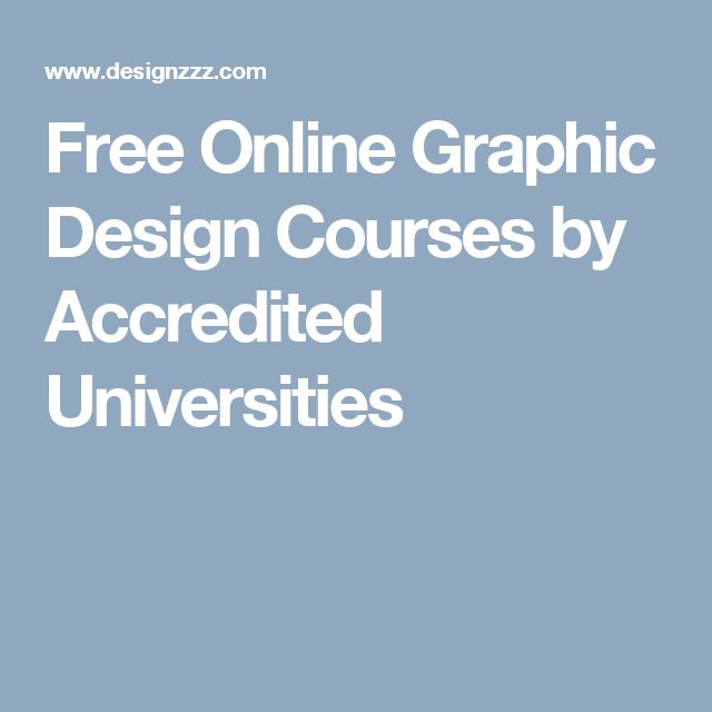 Free Online Graphic Design Courses by Accredited Universities