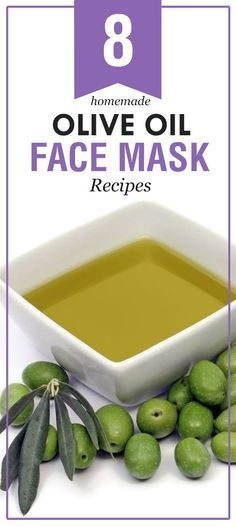 8 Homemade Olive Oil Face Mask Recipes: Olive oil is an powerful element of anti-aging skin care products; rich in antioxidants, it avoid skin aging, the appearance of wrinkles #SkinCare