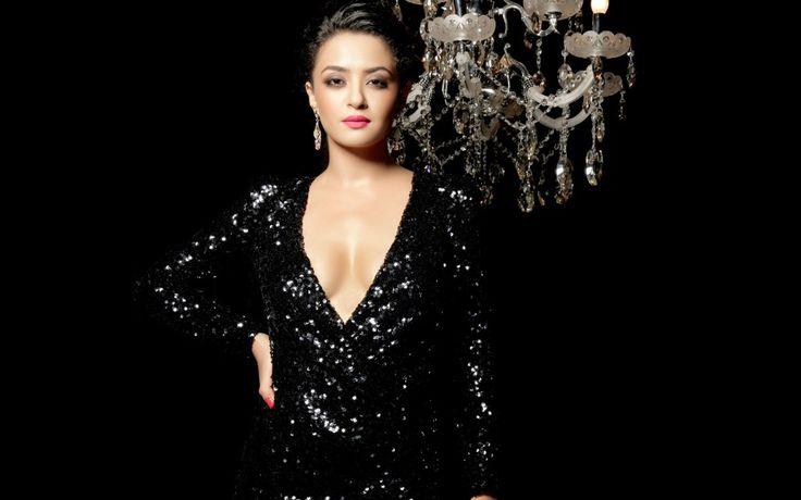 Beautiful Surveen Chawla Hot In Black Dress
