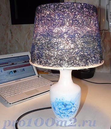 Светильник своими руками из старой вазы