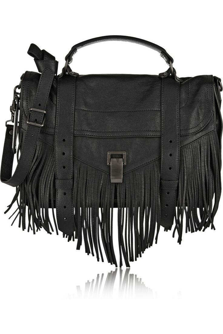 Proenza Schouler PS1 medium fringed leather shoulder bag