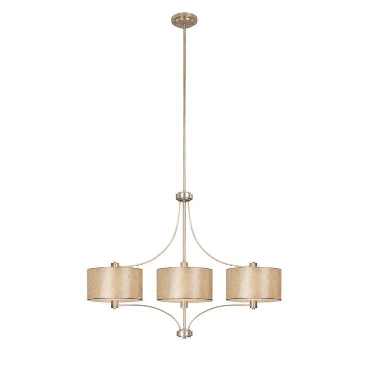 Capital Lighting 3937-482 Luna 3 Light 1 Tier Linear Chandelier Winter Gold Indoor Lighting Chandeliers