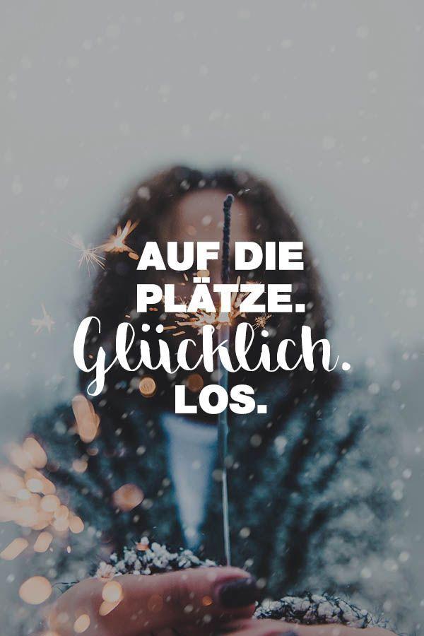 Visual Statements®️️️️️️️️️️️️ Sprüche/ Zitate/ Quotes/ Motivation/ Auf die Plätze. Glücklich los.